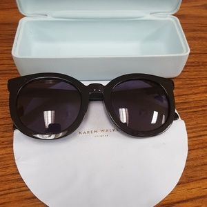 Karen Walker Black Super Strength Sunglasses